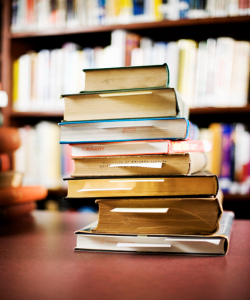 Photo of stacked books